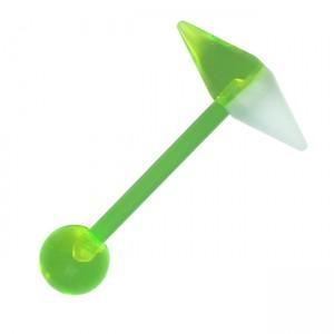 vente piercing langue bioflex pas cher capsule conique vert. Black Bedroom Furniture Sets. Home Design Ideas