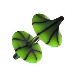 acheter faux plug pas cher champignon acrylique fissures noir vert clair. Black Bedroom Furniture Sets. Home Design Ideas