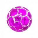 Boule Acrylique Orbe Craquelée Violette Transparente