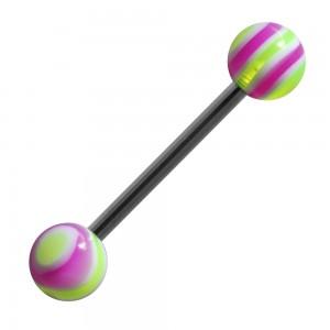 vente piercing langue acrylique bonbon vert violet pas cher. Black Bedroom Furniture Sets. Home Design Ideas
