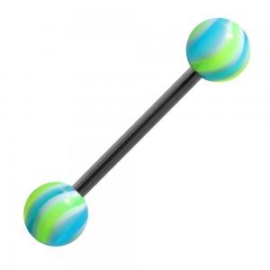 piercing langue acrylique bonbon bleu vert pas cher. Black Bedroom Furniture Sets. Home Design Ideas