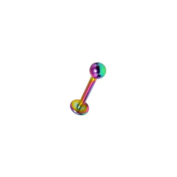 acheter piercing labret l vre pas cher anodis multicolore boule. Black Bedroom Furniture Sets. Home Design Ideas