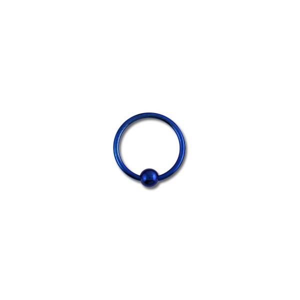 piercing labret anneau titane anodis bleu marine fermeture boule. Black Bedroom Furniture Sets. Home Design Ideas