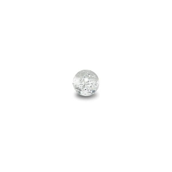 acheter boule de piercing acrylique transparente uv scintillante. Black Bedroom Furniture Sets. Home Design Ideas