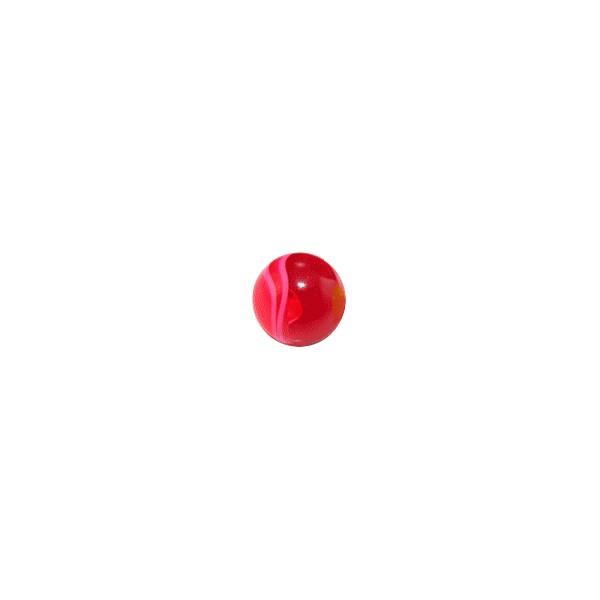 boule de piercing acrylique rouge uv marbr e. Black Bedroom Furniture Sets. Home Design Ideas