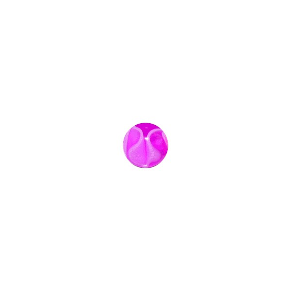 vente boule de piercing acrylique violette uv marbr e. Black Bedroom Furniture Sets. Home Design Ideas