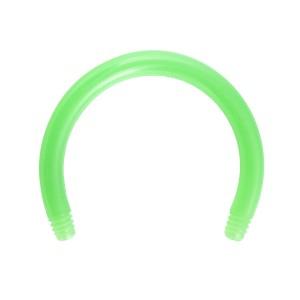 Barre Piercing Circulaire Fer à Cheval Bioflex / Bioplast Verte