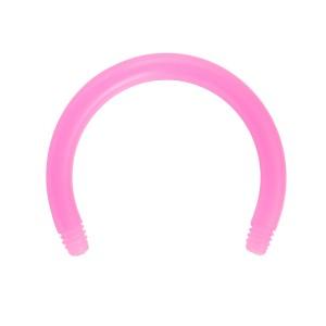 Barre Piercing Circulaire Fer à Cheval Bioflex / Bioplast Rose