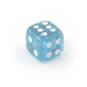 Clear Blue UV Acrylic Transparent Only Piercing Dice