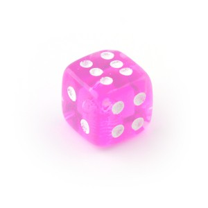 Pink UV Acrylic Transparent Only Piercing Dice