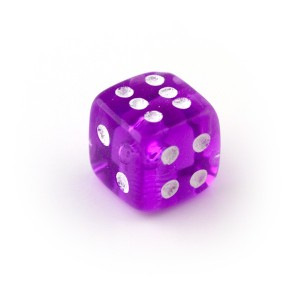 Purple UV Acrylic Transparent Only Piercing Dice