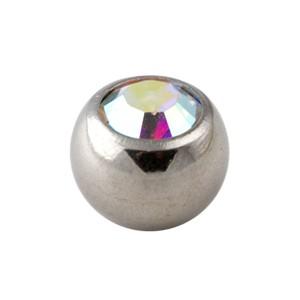 boule de piercing strass multicolore seule votre piercing. Black Bedroom Furniture Sets. Home Design Ideas