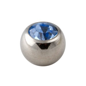 Light Blue Rhinestone Piercing Replacement Only Ball