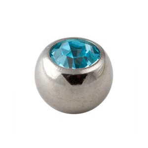 Turquoise Rhinestone Piercing Replacement Only Ball