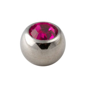Pink Rhinestone Piercing Replacement Only Ball