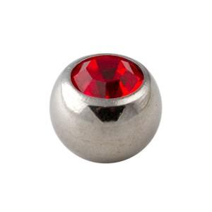 Bola de Piercing Strass Rojo Sólo