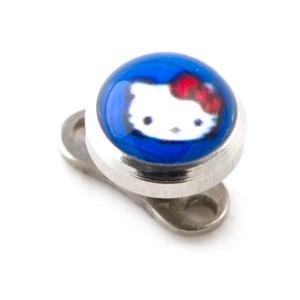 Piercing Microdermal barato Hello Kitty Azul Oscuro