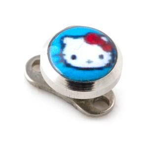 Piercing Microdermal pas cher Hello Kitty Bleu Clair