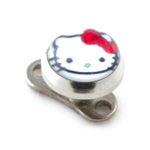 Piercing Microdermal Hello Kitty Blanc