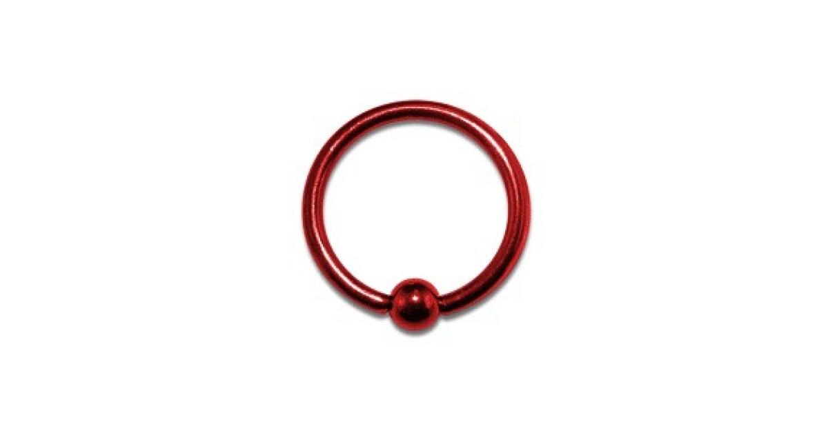 piercing labret anneau anodis rouge bcr pas cher. Black Bedroom Furniture Sets. Home Design Ideas