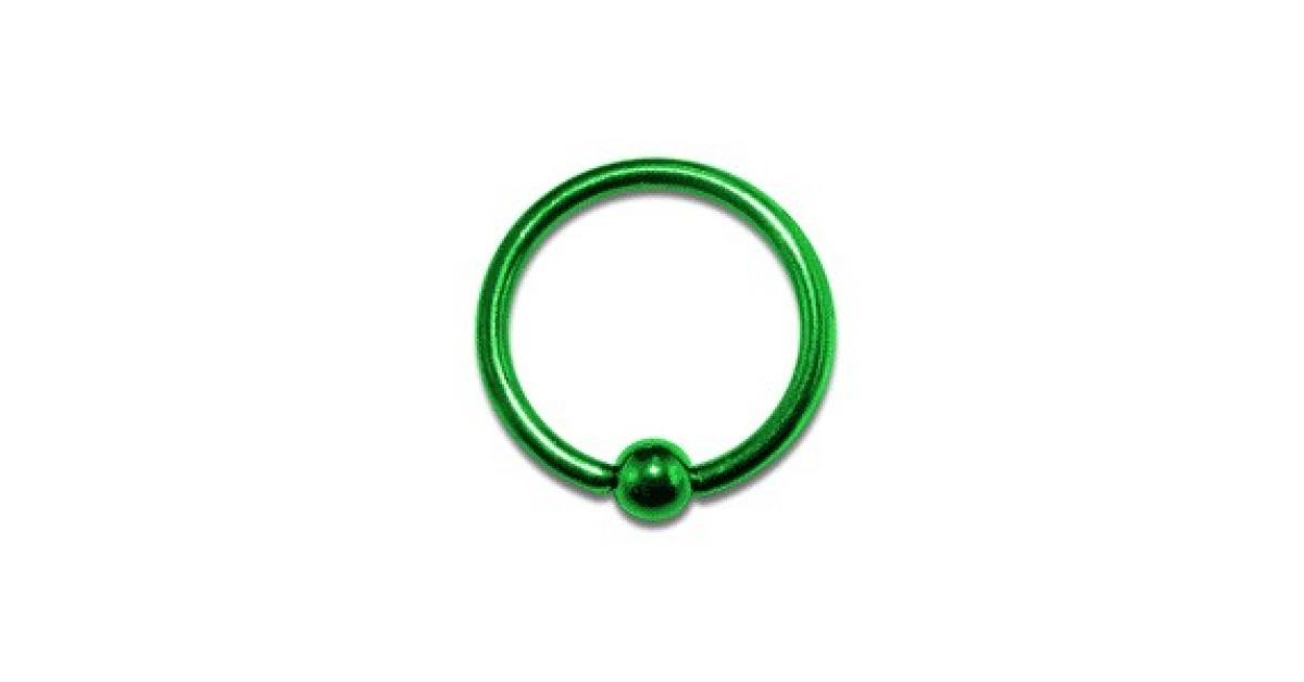 piercing labret anneau anodis vert bcr pas cher. Black Bedroom Furniture Sets. Home Design Ideas