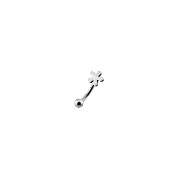 piercing arcade acier chirurgical 316l fleur votre piercing. Black Bedroom Furniture Sets. Home Design Ideas