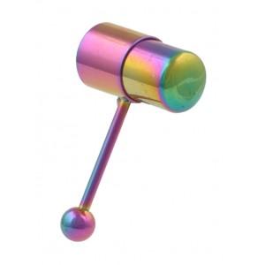 Rainbow Anodized Vibrator Tongue Barbell Vibe-Bell