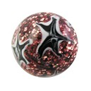 Acrylic Spangled Black/White Stars Barbell Ball