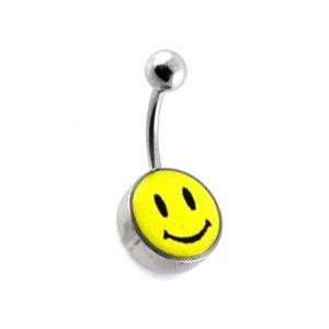Piercing Nombril Acier 316L Logo Smiley