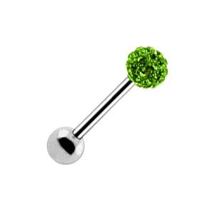 Piercing Langue Boule Cristal Vert