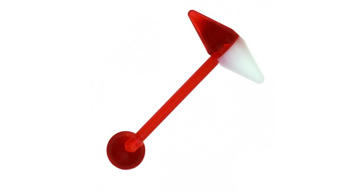 piercing langue bioflex pas cher capsule conique rouge. Black Bedroom Furniture Sets. Home Design Ideas