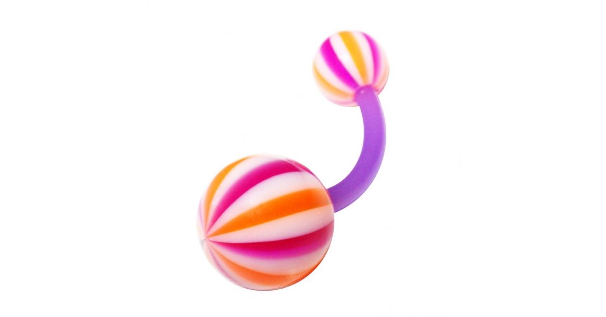 piercing nombril pas cher bioflex beach ball violet orange. Black Bedroom Furniture Sets. Home Design Ideas