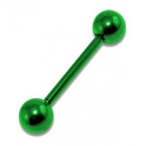 Piercing Arcade Droit Anodisé Vert Boules pas cher