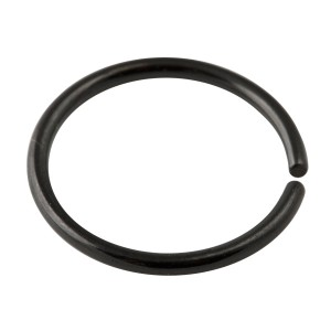Black Anodized 316L Surgical Steel Nose Ring
