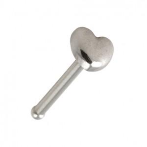 Nasenpiercing Pin Straight Chirurgenstahl 316L Herz Einfach