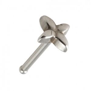 Piercing Nez Pin Droit Acier Chirurgical 316L Fleur