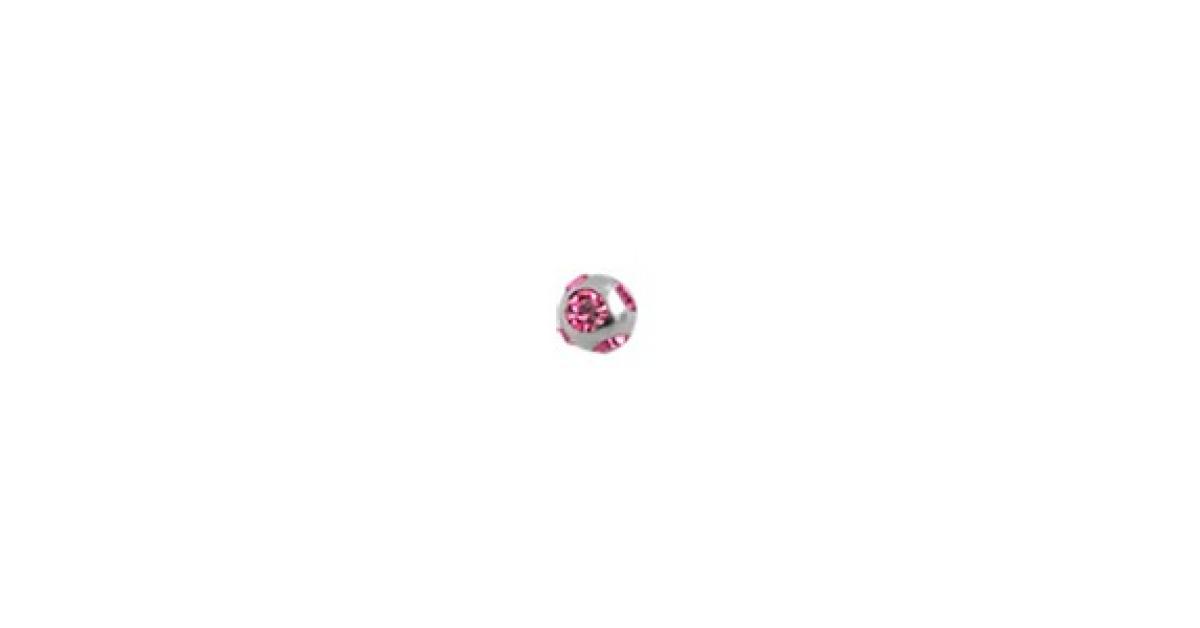 boule de piercing orn e de 5 strass roses votre piercing. Black Bedroom Furniture Sets. Home Design Ideas