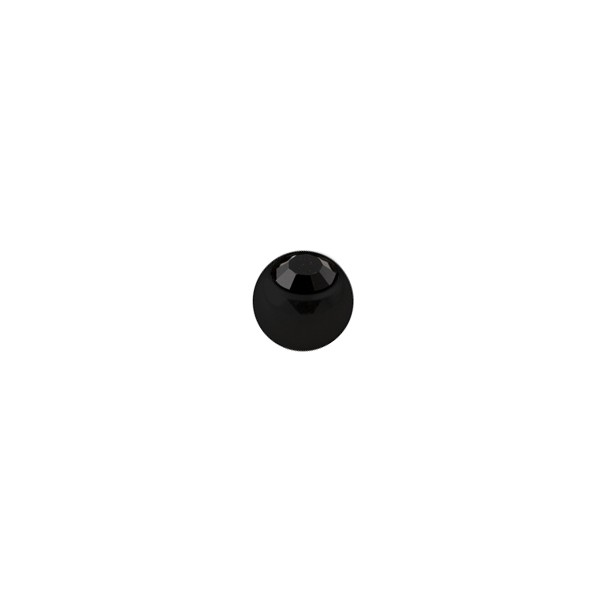 boule de piercing noire seule avec strass noir votre. Black Bedroom Furniture Sets. Home Design Ideas