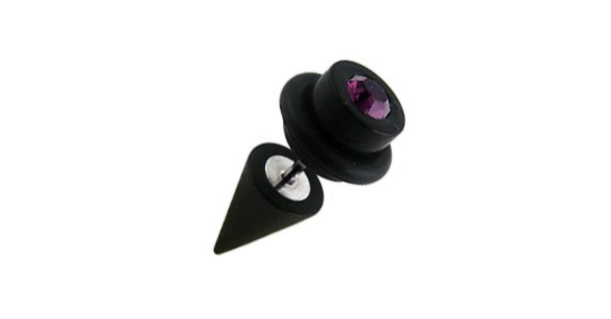 faux plug oreille noir c ne cylindre o ring pas cher zircone violet. Black Bedroom Furniture Sets. Home Design Ideas