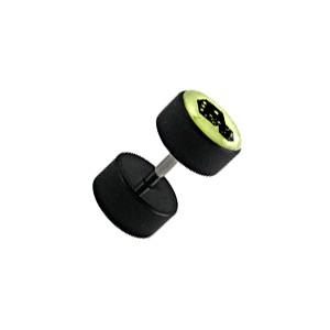 faux plug oreille pas cher noir fluorescent d s votre piercing. Black Bedroom Furniture Sets. Home Design Ideas