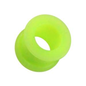 Tunnel Ohr / Lobe Biokompatiblen Silikon Flexibel Grün