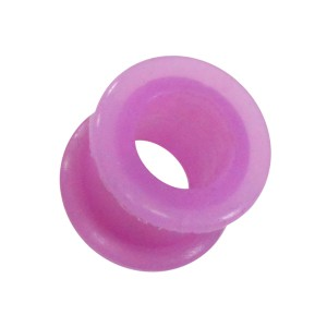 Tunnel Oreille / Lobe Silicone Biocompatible Flexible Violet