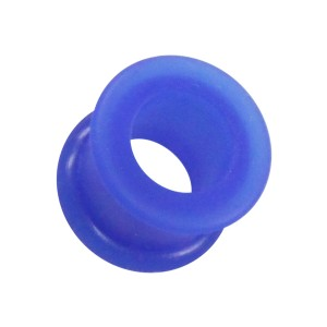 Tunnel Oreille / Lobe Silicone Biocompatible Flexible Bleu