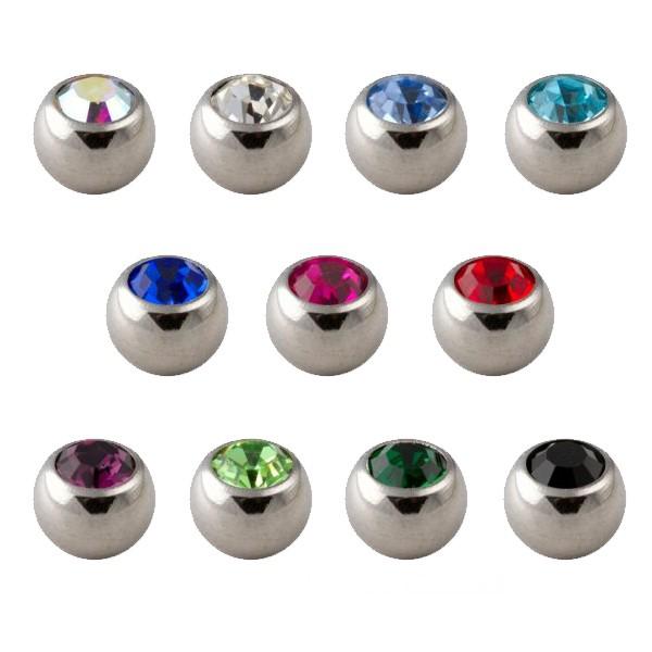 lot 11x boule de piercing strass seule votre piercing. Black Bedroom Furniture Sets. Home Design Ideas