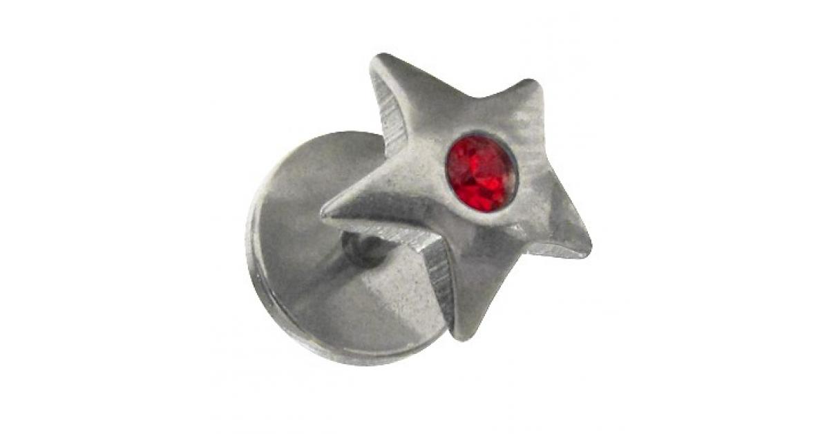 faux plug lobe etoile strass rouge pas cher votre piercing. Black Bedroom Furniture Sets. Home Design Ideas