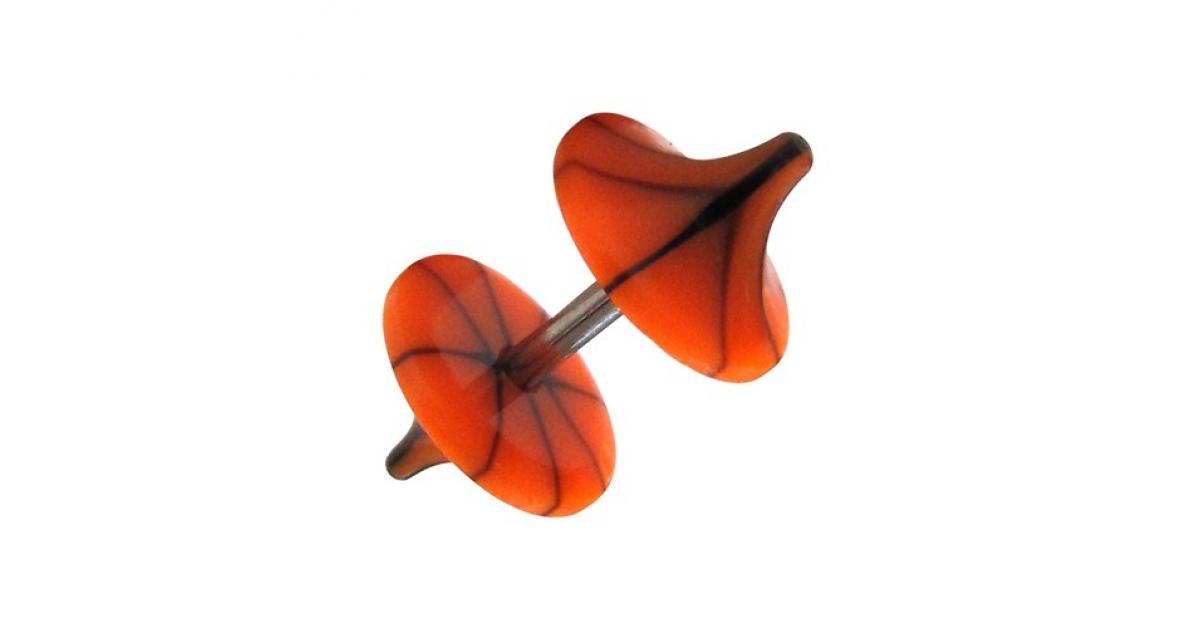 faux plug pas cher champignon acrylique fissures noir orange clair. Black Bedroom Furniture Sets. Home Design Ideas