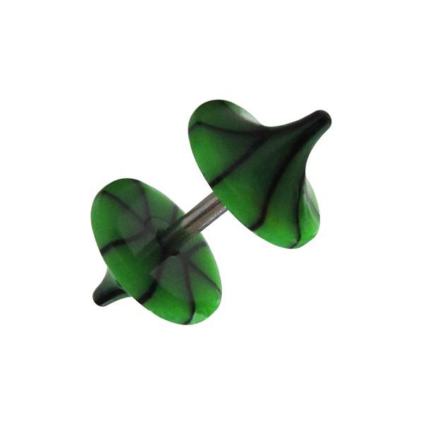 faux plug pas cher champignon acrylique fissures noir vert fonc. Black Bedroom Furniture Sets. Home Design Ideas
