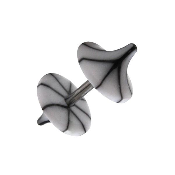 faux plug pas cher champignon acrylique fissures noir blanc. Black Bedroom Furniture Sets. Home Design Ideas