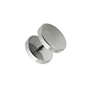 Flat Discs 316L Surgical Steel Fake Plug Earlobe Piercing Stud Ring