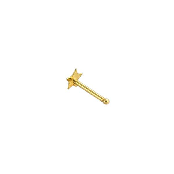 VOTREPIERCING 14K Yellow Gold Nose Stud Screw Ring w//Ball Piercing Jewel 0.8 x 1.5 mm VotrePiercing France